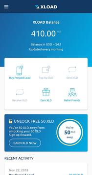 XLOAD - Free Universal Prepaid Top-Up Everyday captura de pantalla 1