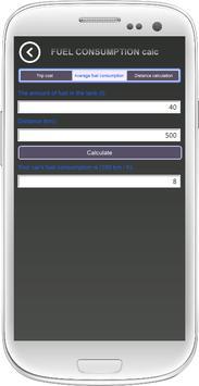 Fuel consumption calculation screenshot 4