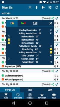 Live Score - Football Turkey screenshot 1