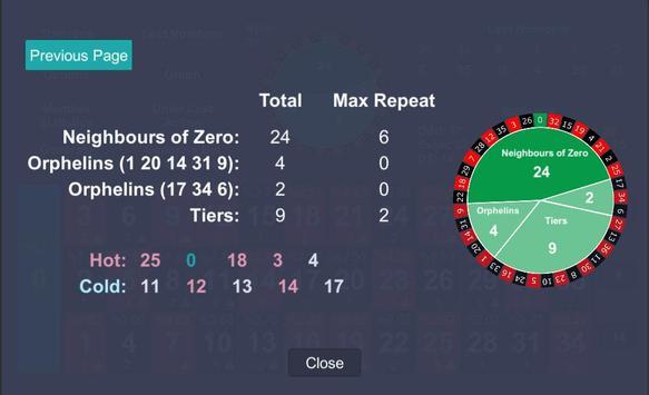 Roulette Statistics screenshot 2