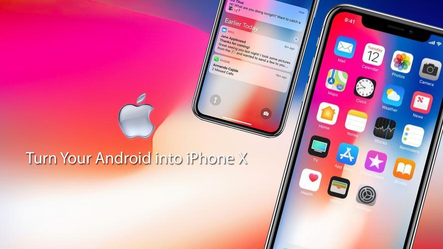 Phone X Launcher & Phone 8 Launcher & Lock Screen for