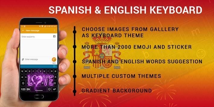 Spanish Keyboard, Teclado en español poster