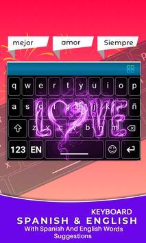 Spanish Keyboard, Teclado en español screenshot 4