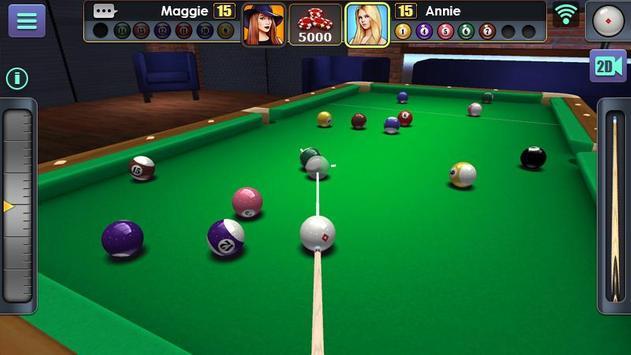 Jogo de Bilhar 3D imagem de tela 1