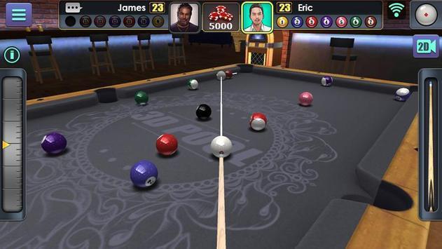 Jogo de Bilhar 3D imagem de tela 4