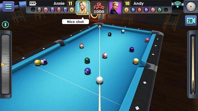 Jogo de Bilhar 3D imagem de tela 5