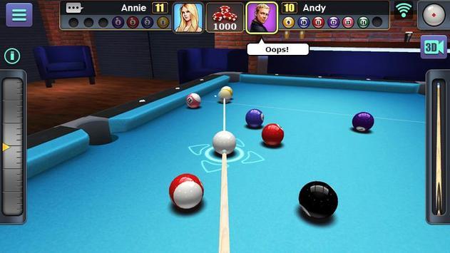 Jogo de Bilhar 3D imagem de tela 6