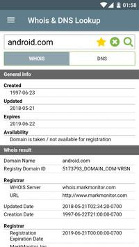 Whois & DNS Lookup الملصق