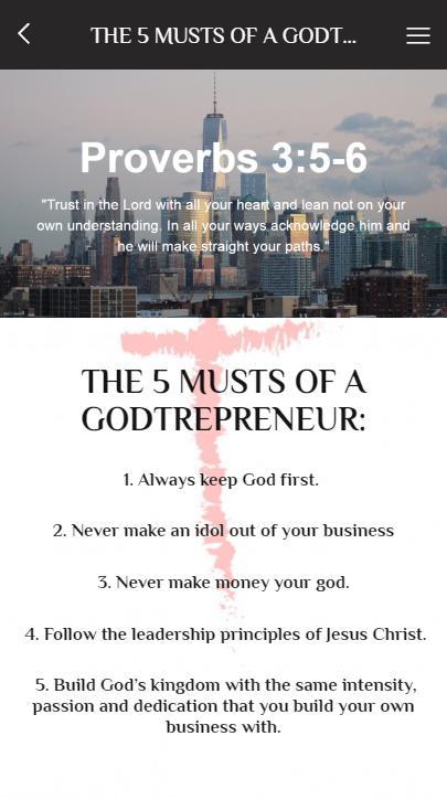 Godtrepreneur poster