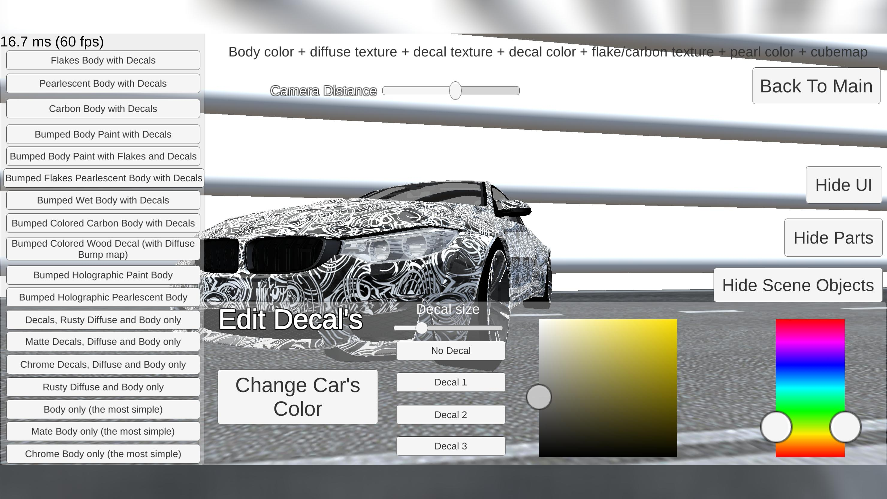 Realistic Car Shaders - Mobile (Unity Asset Demo) for