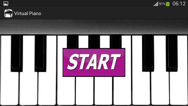 بيانو افتراضية الملصق