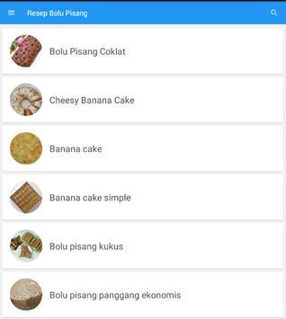 Resep Kue Bolu Pisang Terbaru screenshot 3