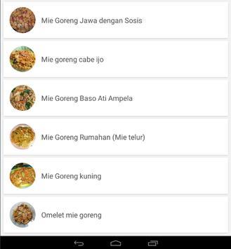 Resep Mie Goreng Sederhana lengkap screenshot 4