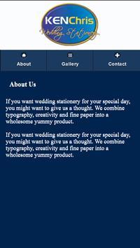 Kenchris Wedding Stationery screenshot 1