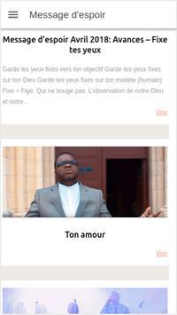 Message d'espoir screenshot 2