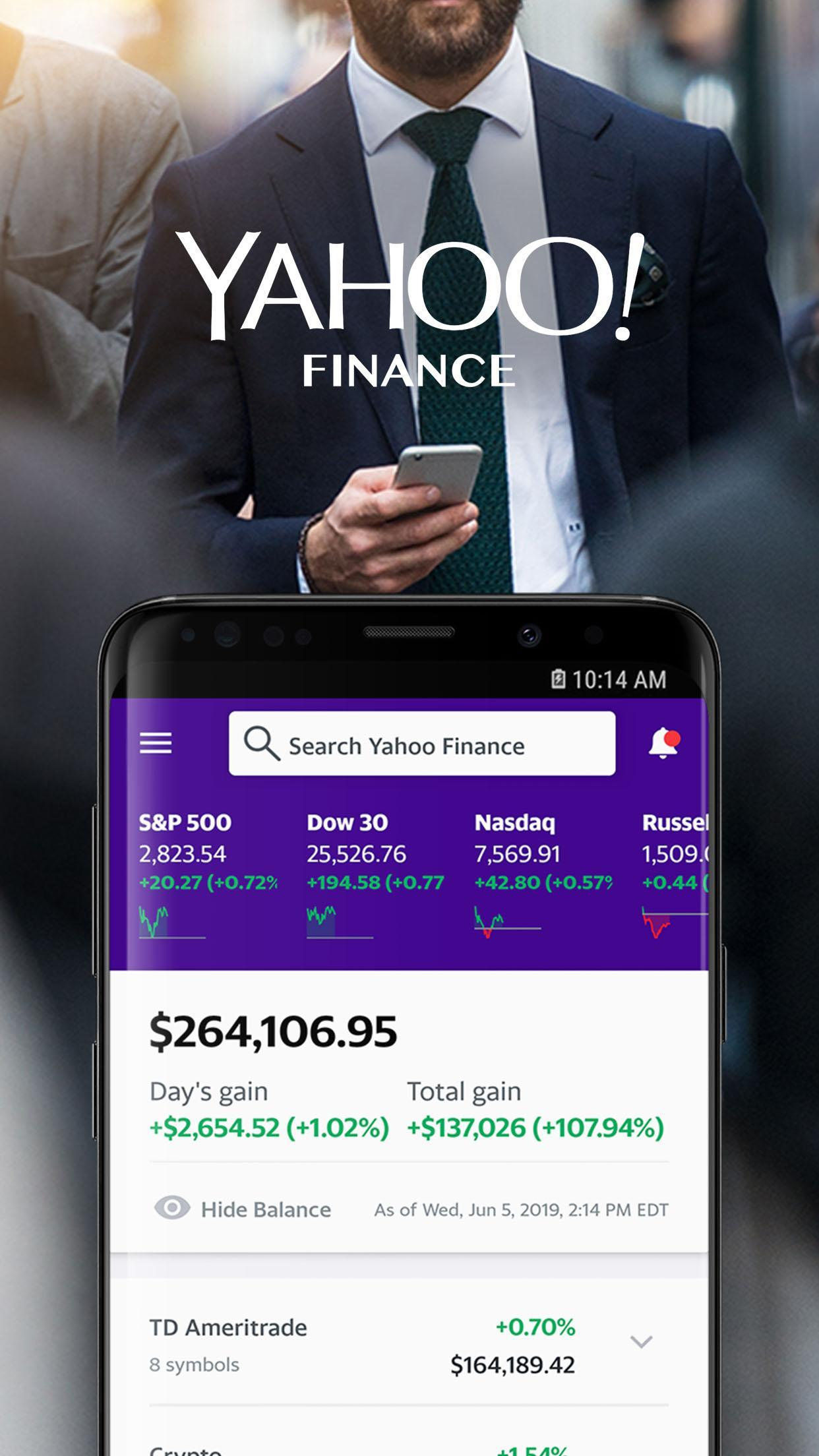 Yahoo Finance: Real-Time Stocks & Investing News for Android