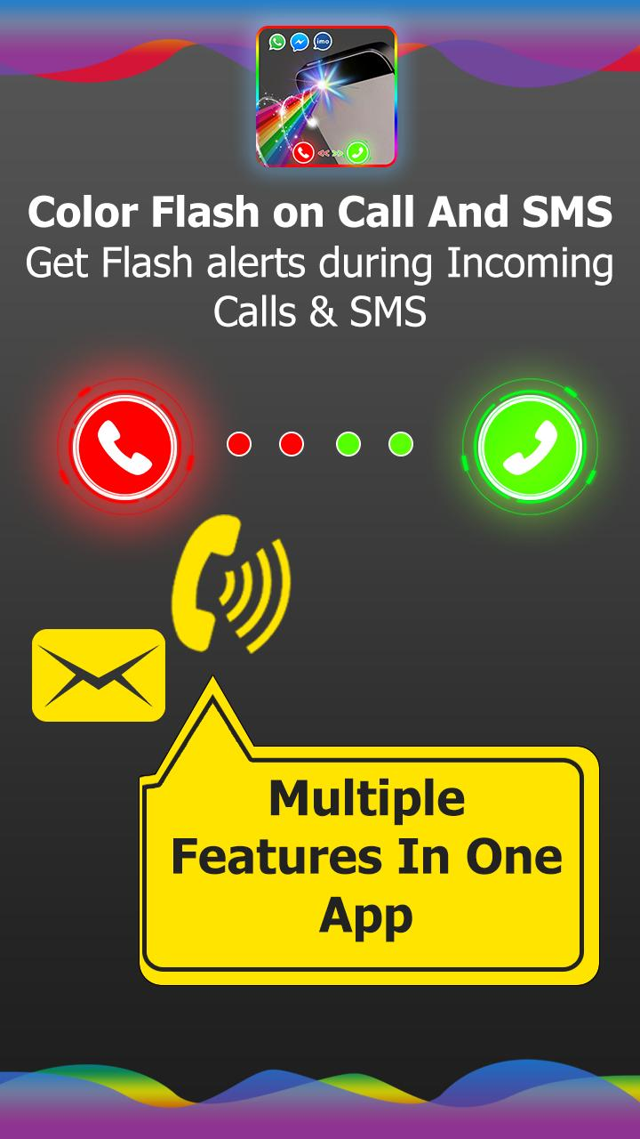 Color flash on call and sms: Color flash light for Android