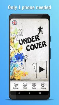 Undercover ^^ - Role playing word party game poster