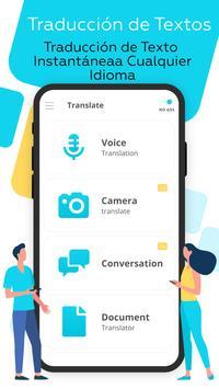 Traductor de idiomas Voz, Foto Poster
