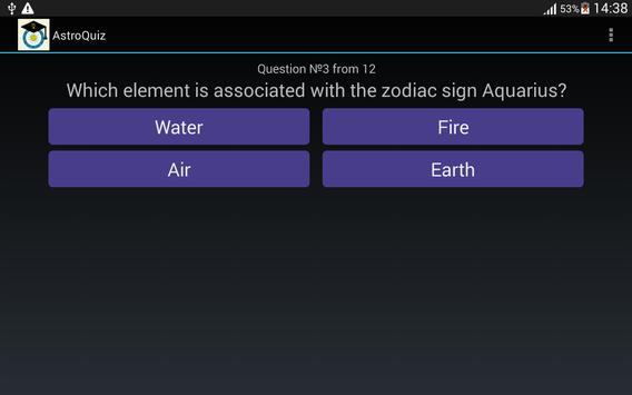 AstroQuiz - test your basic knowledge of astrology 截图 1