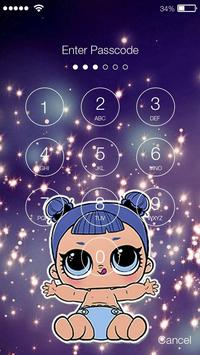Dolls Cute Girly Baby Lol Screen Lock screenshot 1