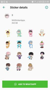 BTS Idol WAStickerApps screenshot 3