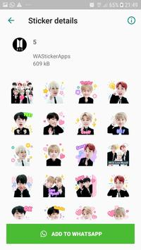 BTS Idol WAStickerApps poster