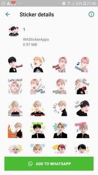 BTS Idol WAStickerApps screenshot 1