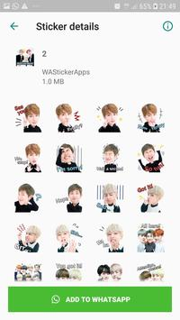 BTS Idol WAStickerApps screenshot 2
