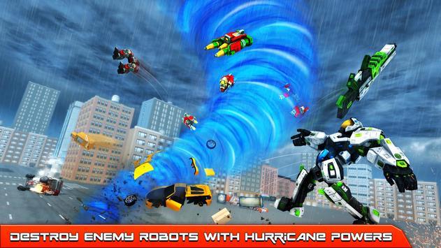 Hurricane Tornado Robot Transforming - Robot Game screenshot 1