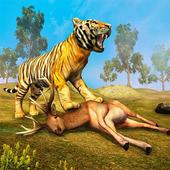 Wild Tiger Family survival Simulator Game icon