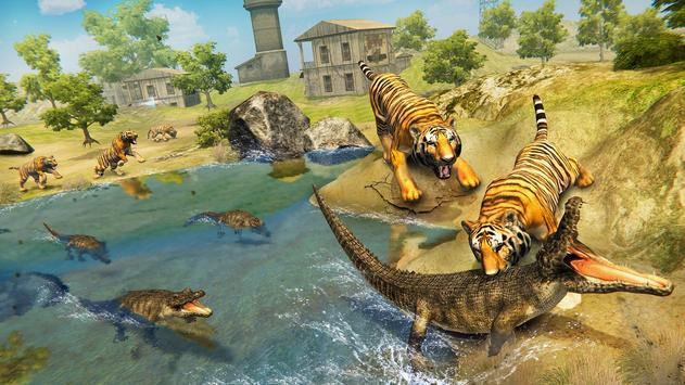 Wild Tiger Family survival Simulator Game screenshot 2
