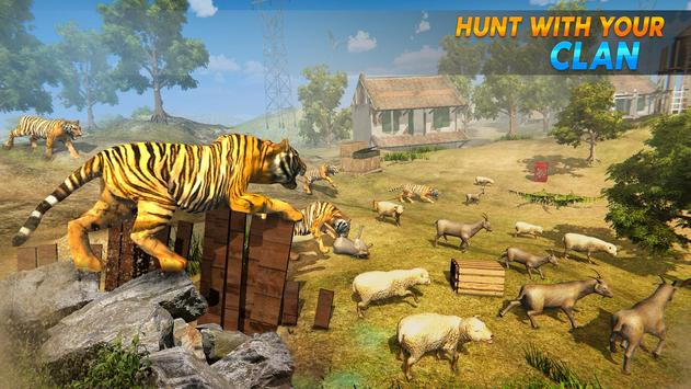 Wild Tiger Family survival Simulator Game screenshot 3