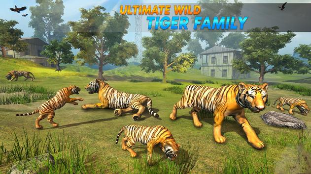 Wild Tiger Family survival Simulator Game screenshot 7