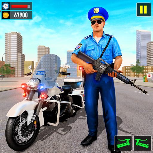 警察摩托自行車追逐–免費模擬器遊戲