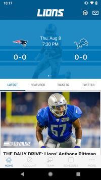 Detroit Lions Mobile Affiche