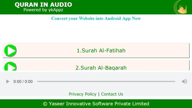 QURAN - In Audio Translation screenshot 1