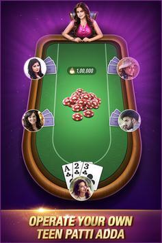 Teen Patti Adda: Free Online 3 Patti Indian Poker poster