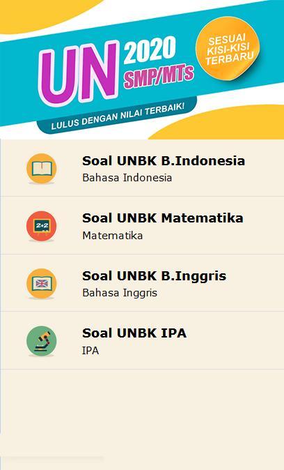 Prediksi Soal UN B. INDONESIA SMP/MTS 2019-2020