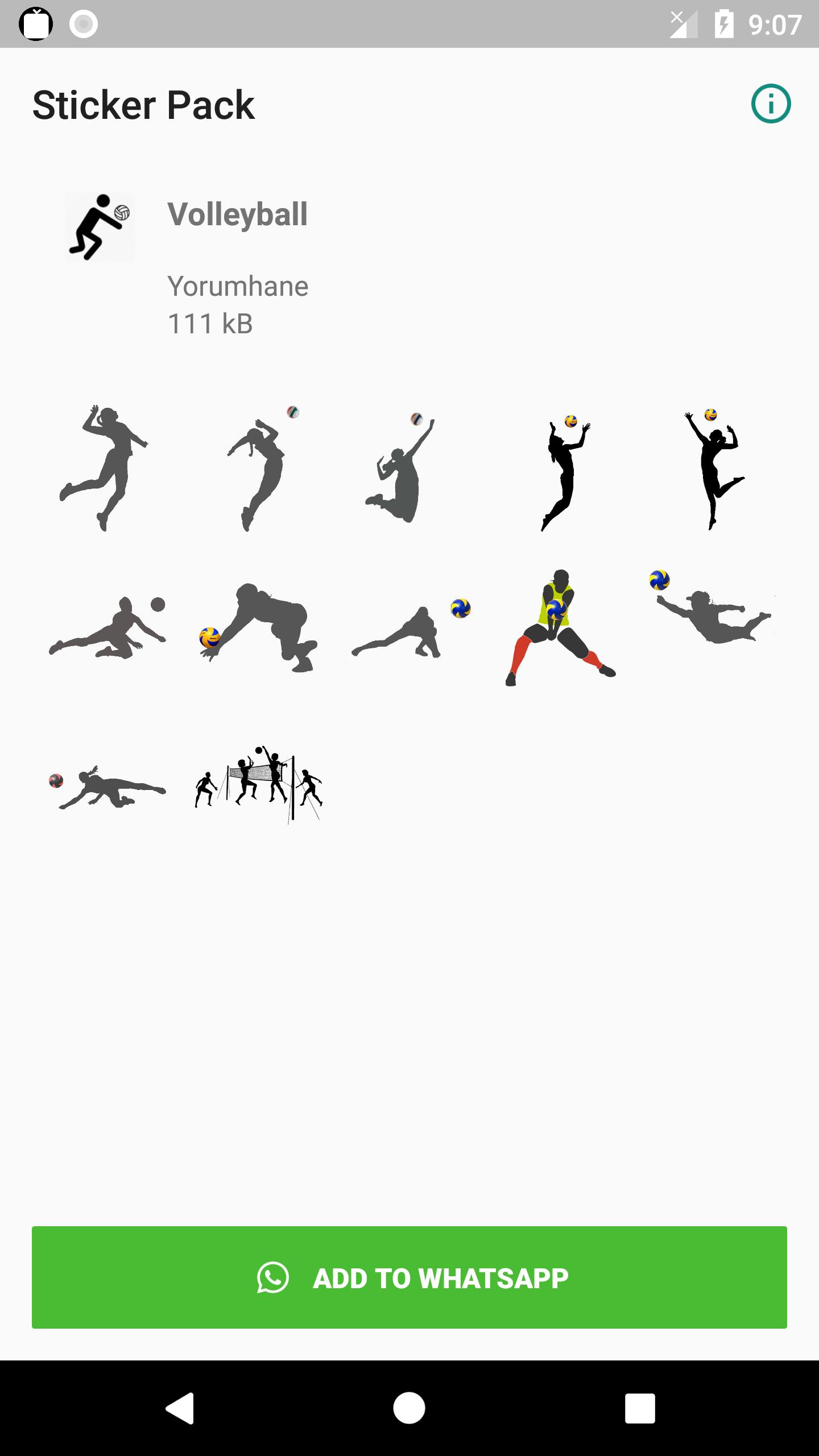 Wa Sticker Volleyball For Android Apk Download