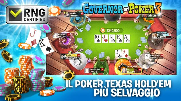 7 Schermata Governor of Poker 3 - Texas Holdem: Carte e Casinò