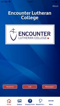 Encounter Lutheran College App poster