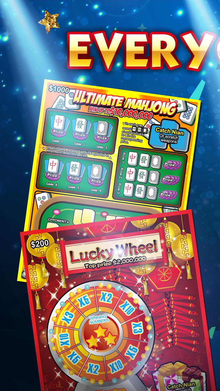 Lottery Scratch Off - Mahjong poster