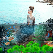 3D Water photo effect maker icon