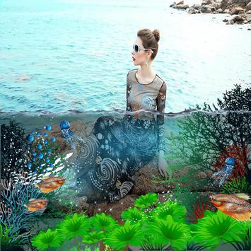 3D Water photo effect maker poster