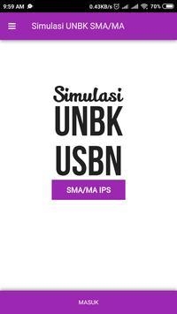 UNBK SMA/MA IPS poster