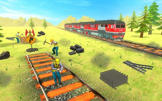 Train Track Construction Free: Train Games poster