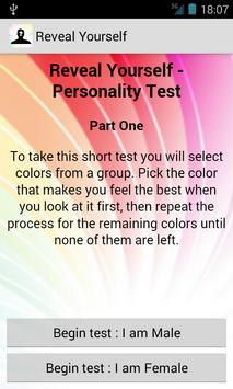 Reveal Uself Personality Test poster