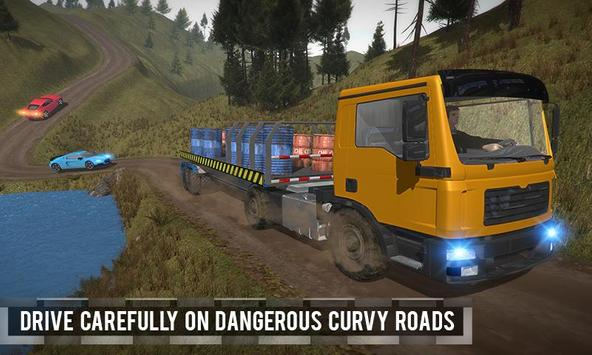 Trailer Truck Off Road Driving poster