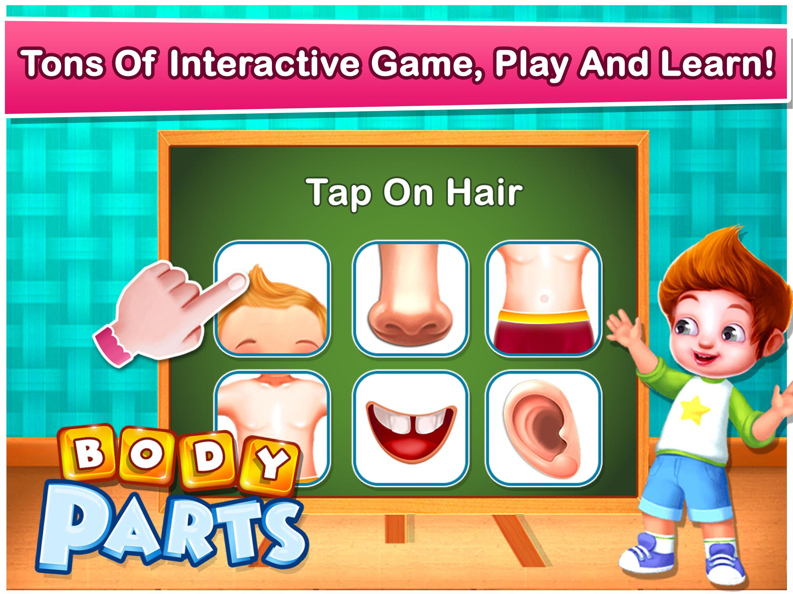 Human Body Parts - Preschool Kids Learning Games for ...